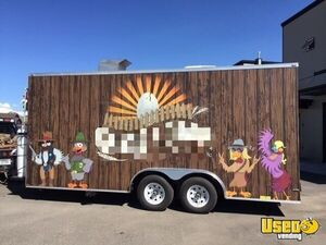 2016 Food Concession Trailer Kitchen Food Trailer Spare Tire Montana for Sale