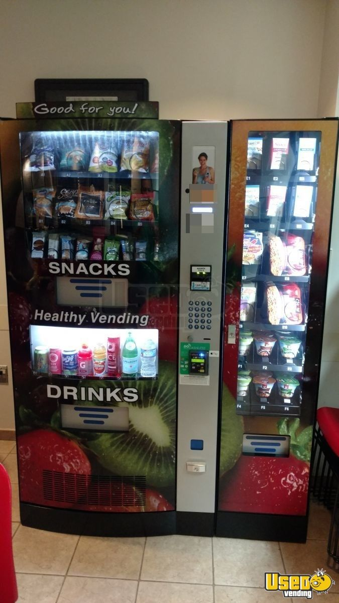 healthy snack & drink vending machine | healthy vending route for