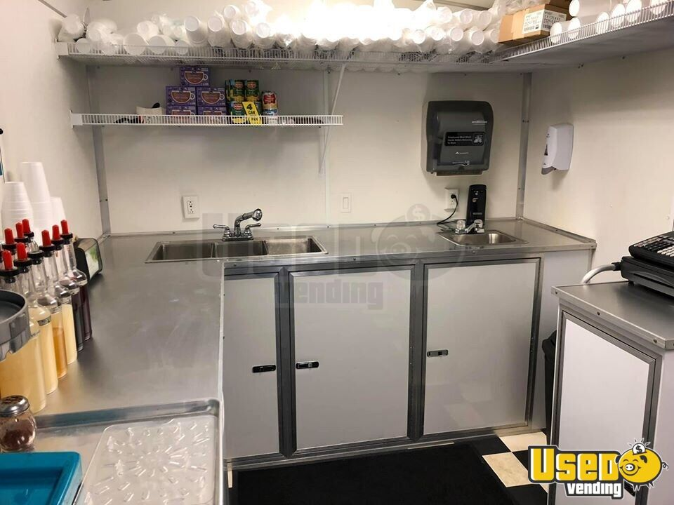 2016 Shaved Ice Concession Trailer Snowball Trailer Deep Freezer Texas for Sale - 9