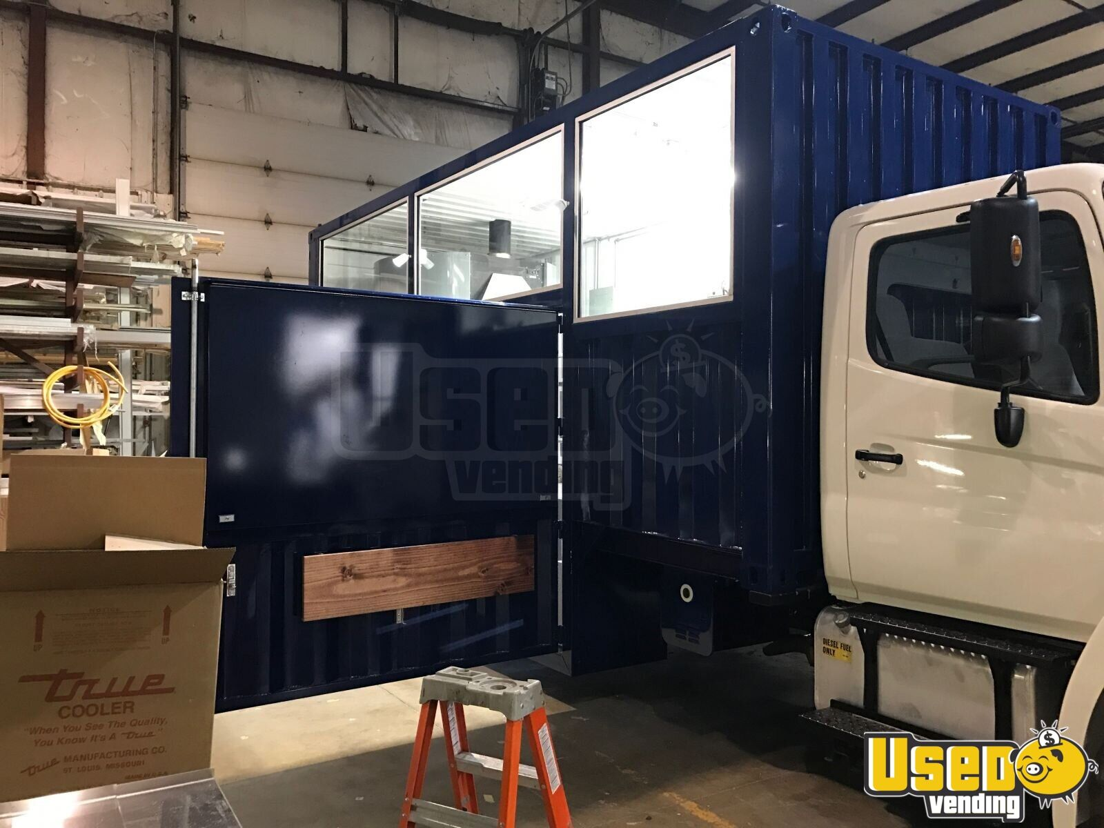 2017 2008 Hino 268 Food Truck Concession Window Illinois Diesel Engine for Sale - 3