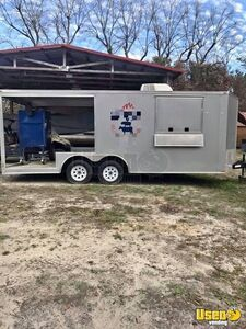 2017 Barbecue Concession Trailer Barbecue Food Trailer Air Conditioning Georgia for Sale