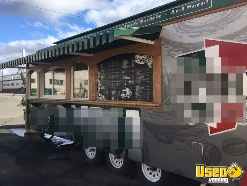2017 Custom Built By Classic Trolley Beverage - Coffee Trailer Air Conditioning Washington for Sale - 2