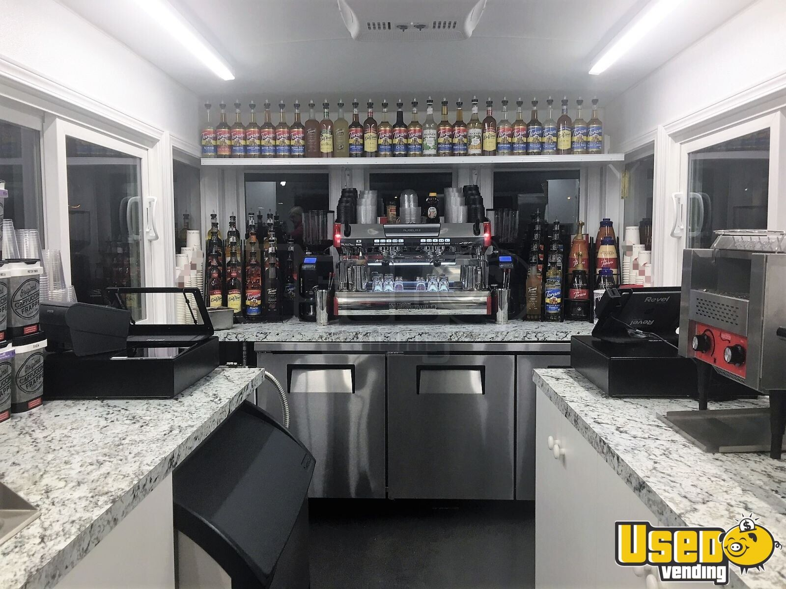 2017 Custom Built By Classic Trolley Beverage - Coffee Trailer Cabinets Washington for Sale - 5