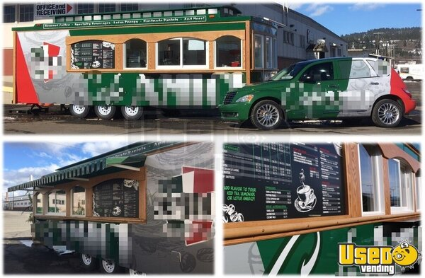 2017 Custom Built By Classic Trolley Beverage - Coffee Trailer Washington for Sale