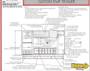 2017 Custom Sales Model 650 Kitchen Food Trailer Reach-in Upright Cooler South Carolina for Sale