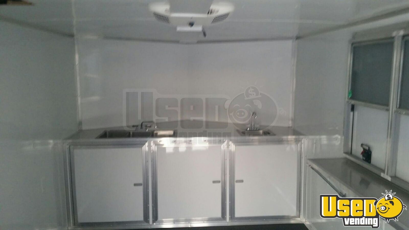 2017 Food Concession Trailer Concession Trailer Diamond Plated Aluminum Flooring Texas for Sale - 7