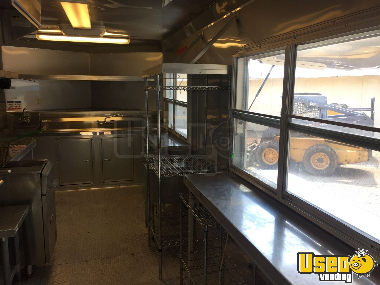 2017 Food Concession Trailer Kitchen Food Trailer Diamond Plated Aluminum Flooring Oklahoma for Sale - 8