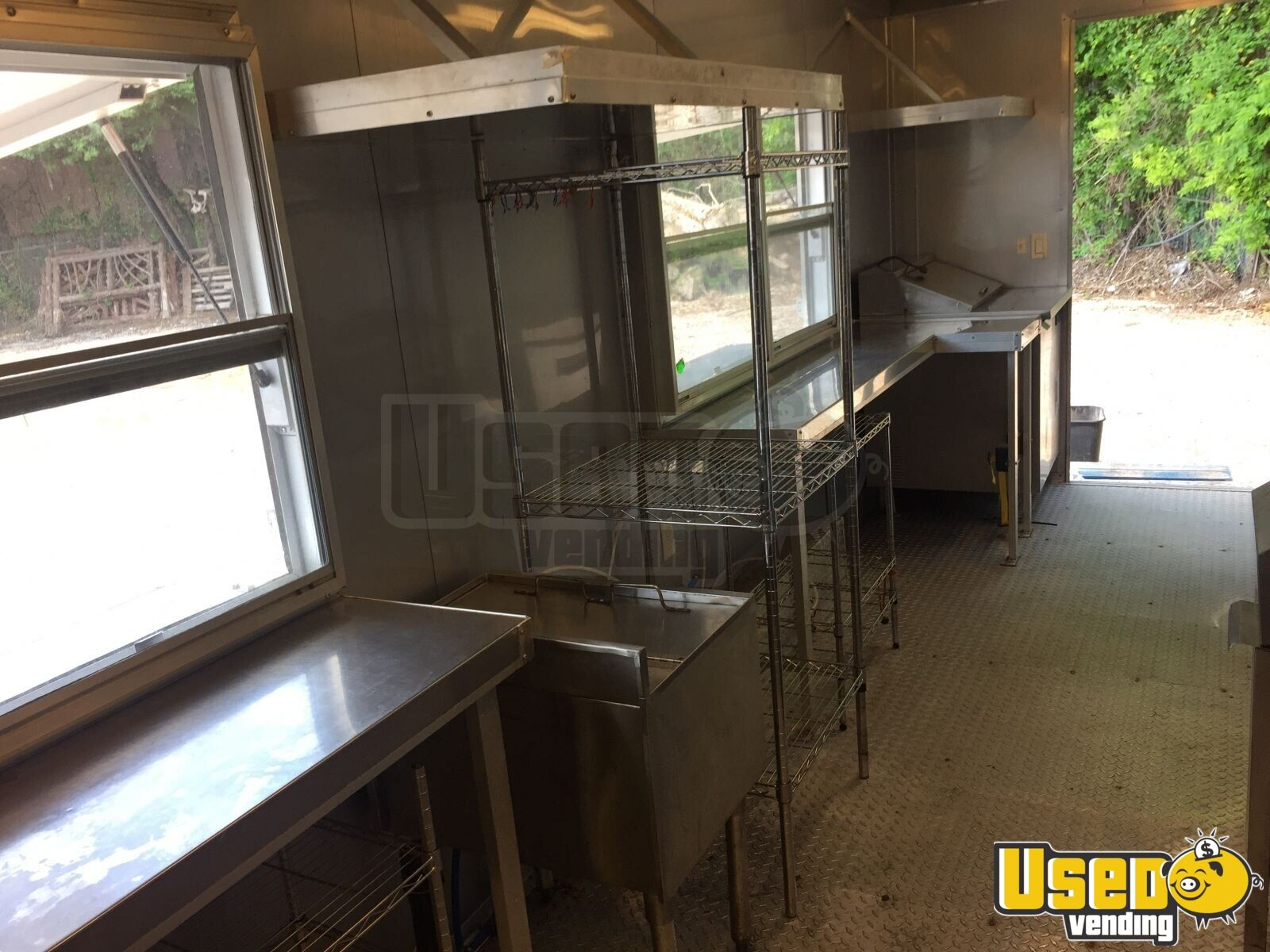 2017 Food Concession Trailer Kitchen Food Trailer Exterior Customer Counter Oklahoma for Sale - 9