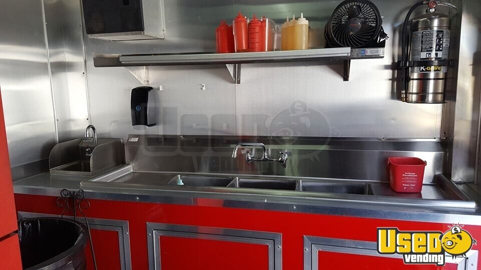 2017 Food Concession Trailer Kitchen Food Trailer Refrigerator Wyoming for Sale - 9