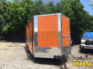2017 Food Concession Trailer Kitchen Food Trailer Stainless Steel Wall Covers Oklahoma for Sale