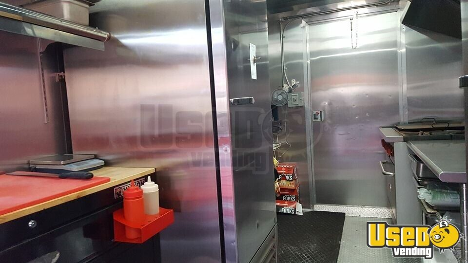 2017 Food Concession Trailer Kitchen Food Trailer Stainless Steel Wall Covers Wyoming for Sale - 5