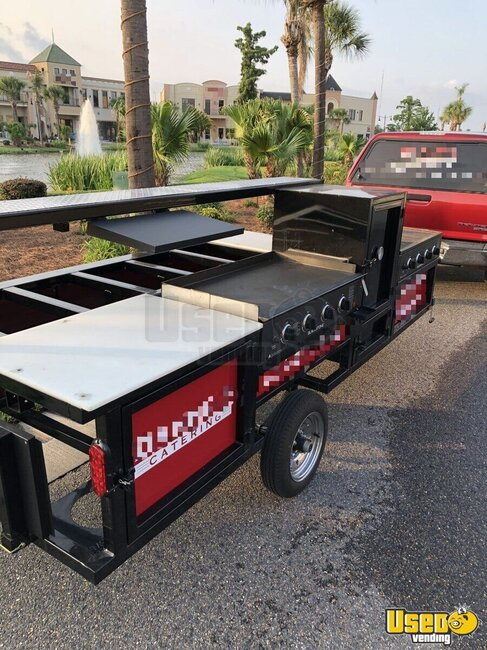 2017 Omg Chef Open Bbq Smoker Trailer Louisiana for Sale