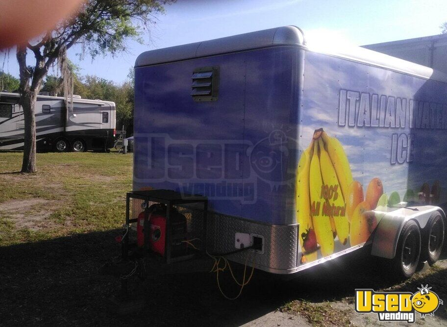 2017 Shaved Ice Concession Trailer Concession Trailer Generator Florida for Sale - 7