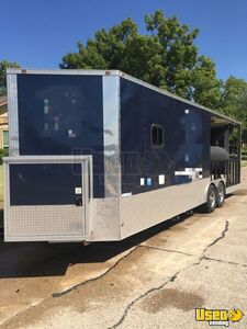 2018 16944 Barbecue Concession Trailer Barbecue Food Trailer Spare Tire Texas for Sale