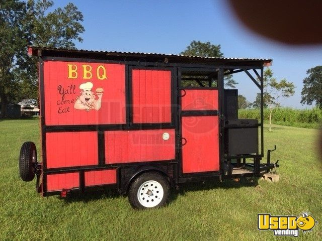 2018 Barbecue Food Trailer Concession Window Louisiana for Sale - 2