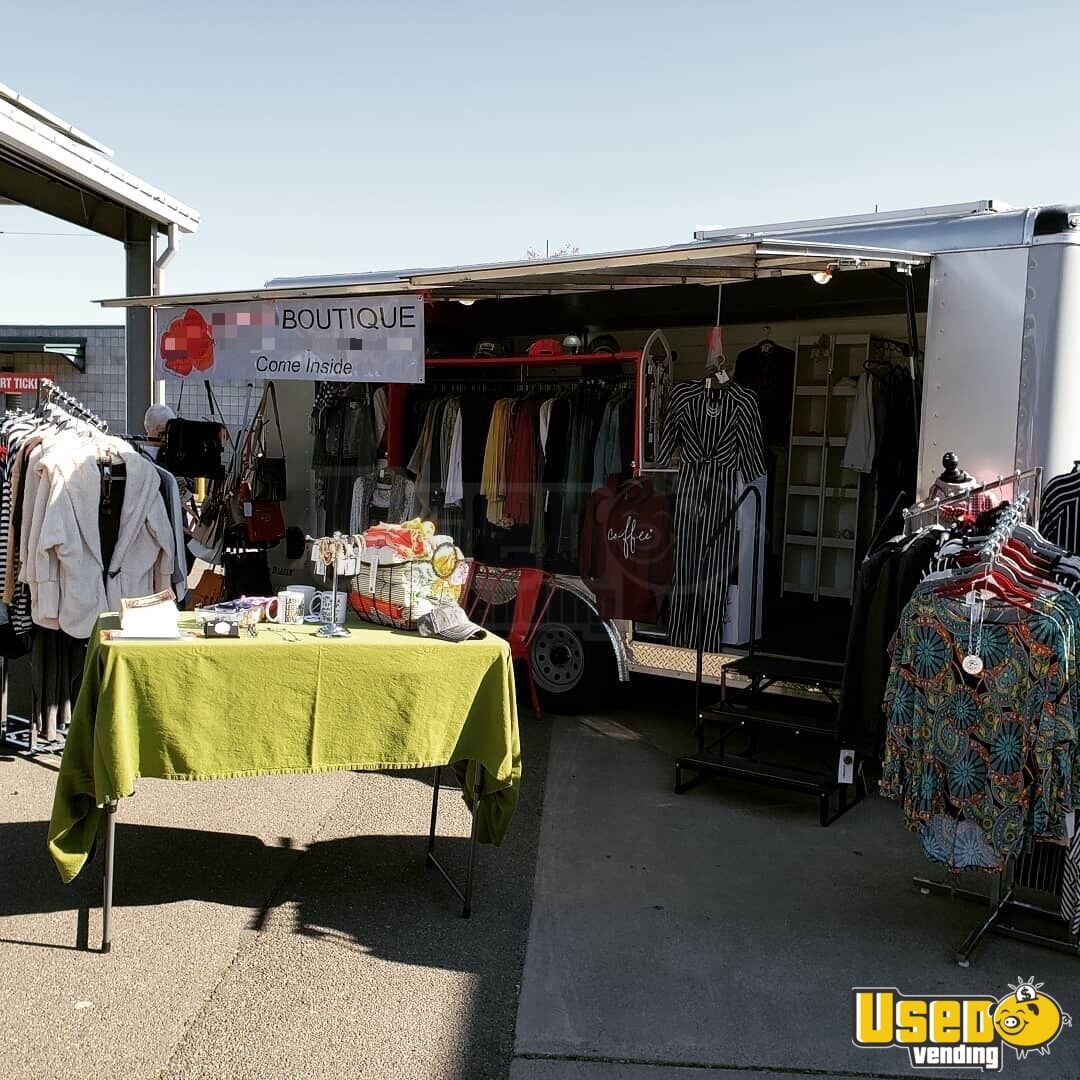 2018 Blazer Mobile Boutique Trailer Awning Oregon for Sale - 3