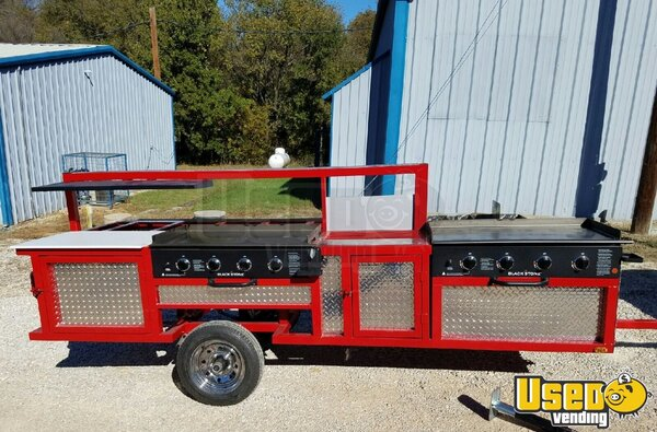 2018 Erwin Manufacturing Open Bbq Smoker Trailer Texas for Sale