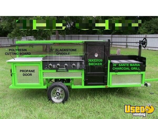 2018 Erwin Mfg Open Bbq Smoker Trailer Bbq Smoker Texas for Sale - 4