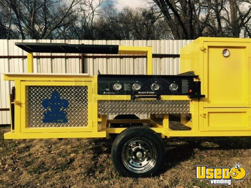 2018 Erwin Mfg Open Bbq Smoker Trailer Chargrill Texas for Sale - 2