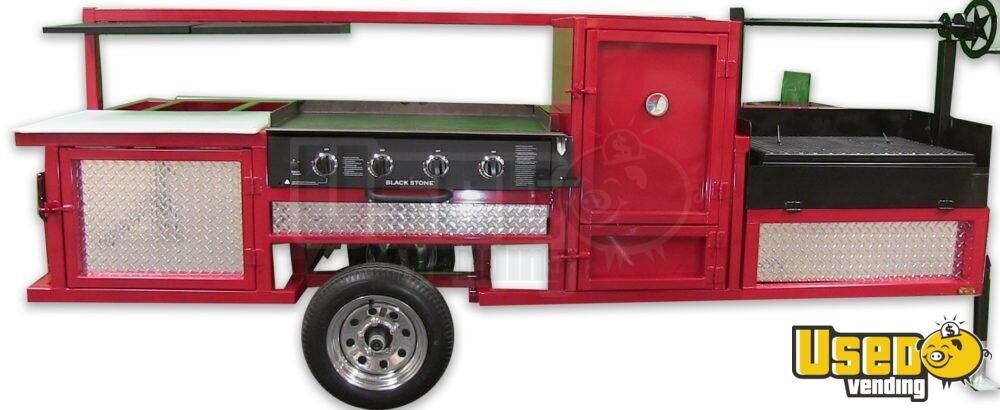 2018 Erwin Mfg Open Bbq Smoker Trailer Flatgrill Texas for Sale - 3