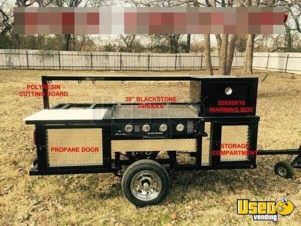 2018 Erwin Mfg Open Bbq Smoker Trailer Flatgrill Texas for Sale - 2