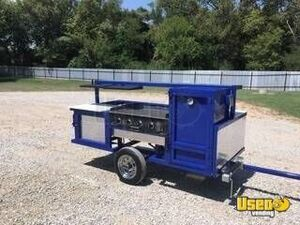 2018 Erwin Mfg Open Bbq Smoker Trailer Steam Table Texas for Sale