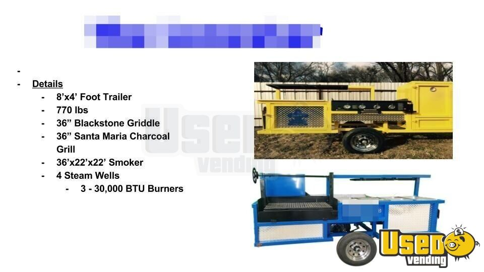 2018 Erwin Mfg Open Bbq Smoker Trailer Steam Table Texas for Sale - 5