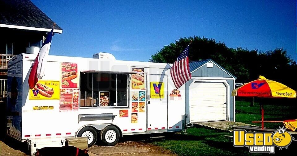 2018 Food Concession Trailer Kitchen Food Trailer Air Conditioning Texas for Sale - 2