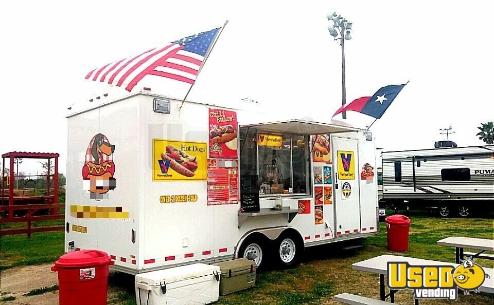 2018 Food Concession Trailer Kitchen Food Trailer Concession Window Texas for Sale - 3