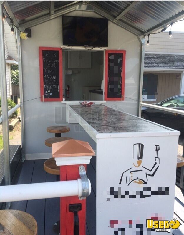 2018 Food Concession Trailer Kitchen Food Trailer Removable Trailer Hitch Ohio for Sale - 4