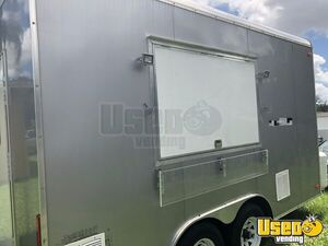 2018 Food Concession Trailer Kitchen Food Trailer Stainless Steel Wall Covers Florida for Sale