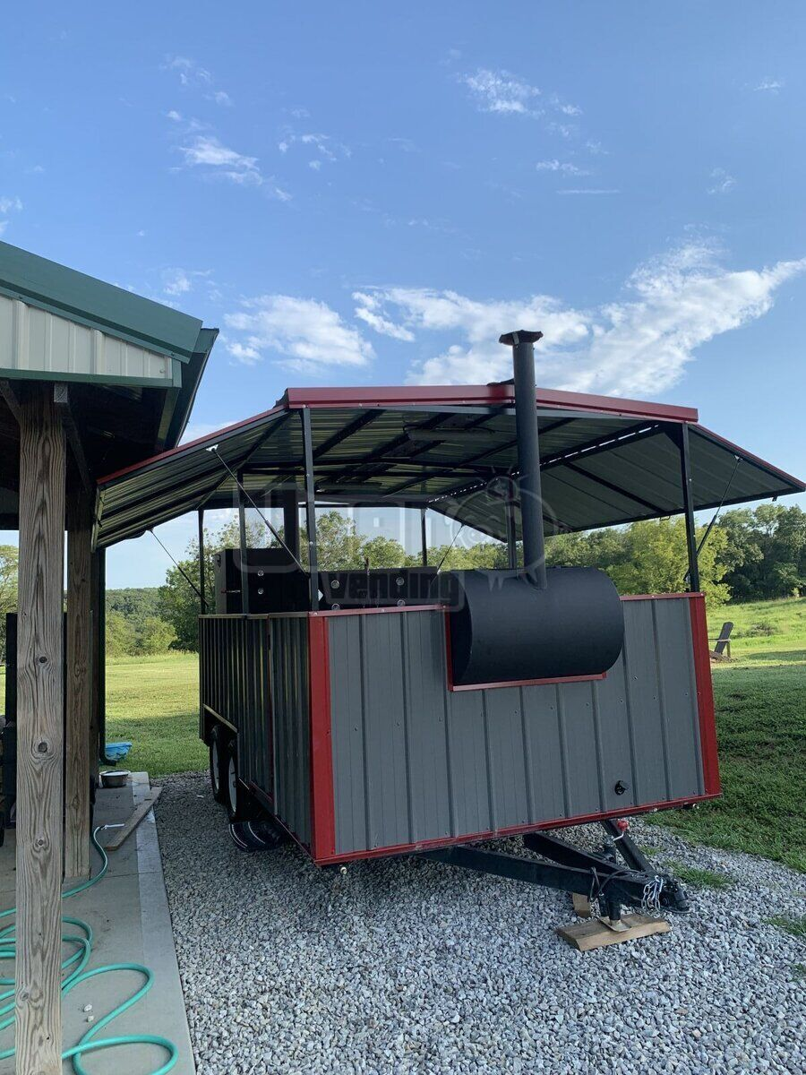 2018 Hiddenvalley Smokers Open Bbq Smoker Trailer Bbq Smoker Missouri for Sale - 3