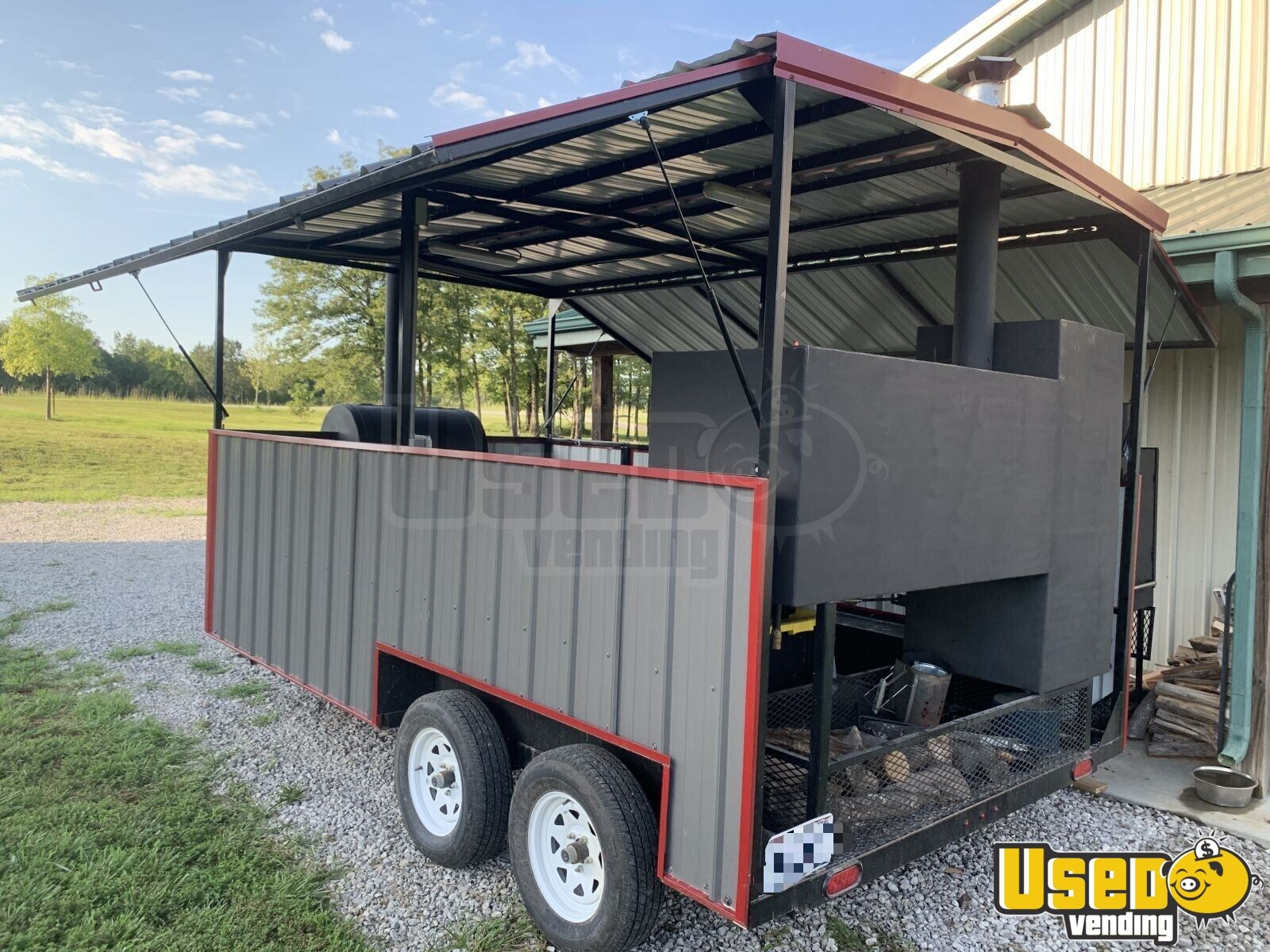 2018 Hiddenvalley Smokers Open Bbq Smoker Trailer Char Grill Missouri for Sale - 2