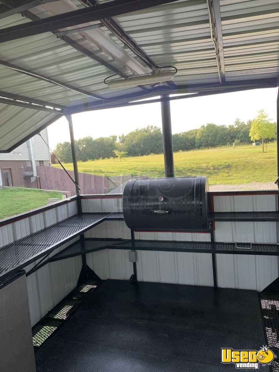 2018 Hiddenvalley Smokers Open Bbq Smoker Trailer Interior Lighting Missouri for Sale - 6