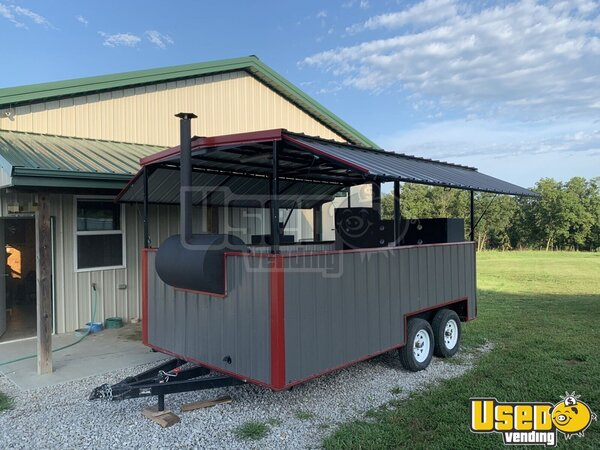 2018 Hiddenvalley Smokers Open Bbq Smoker Trailer Missouri for Sale