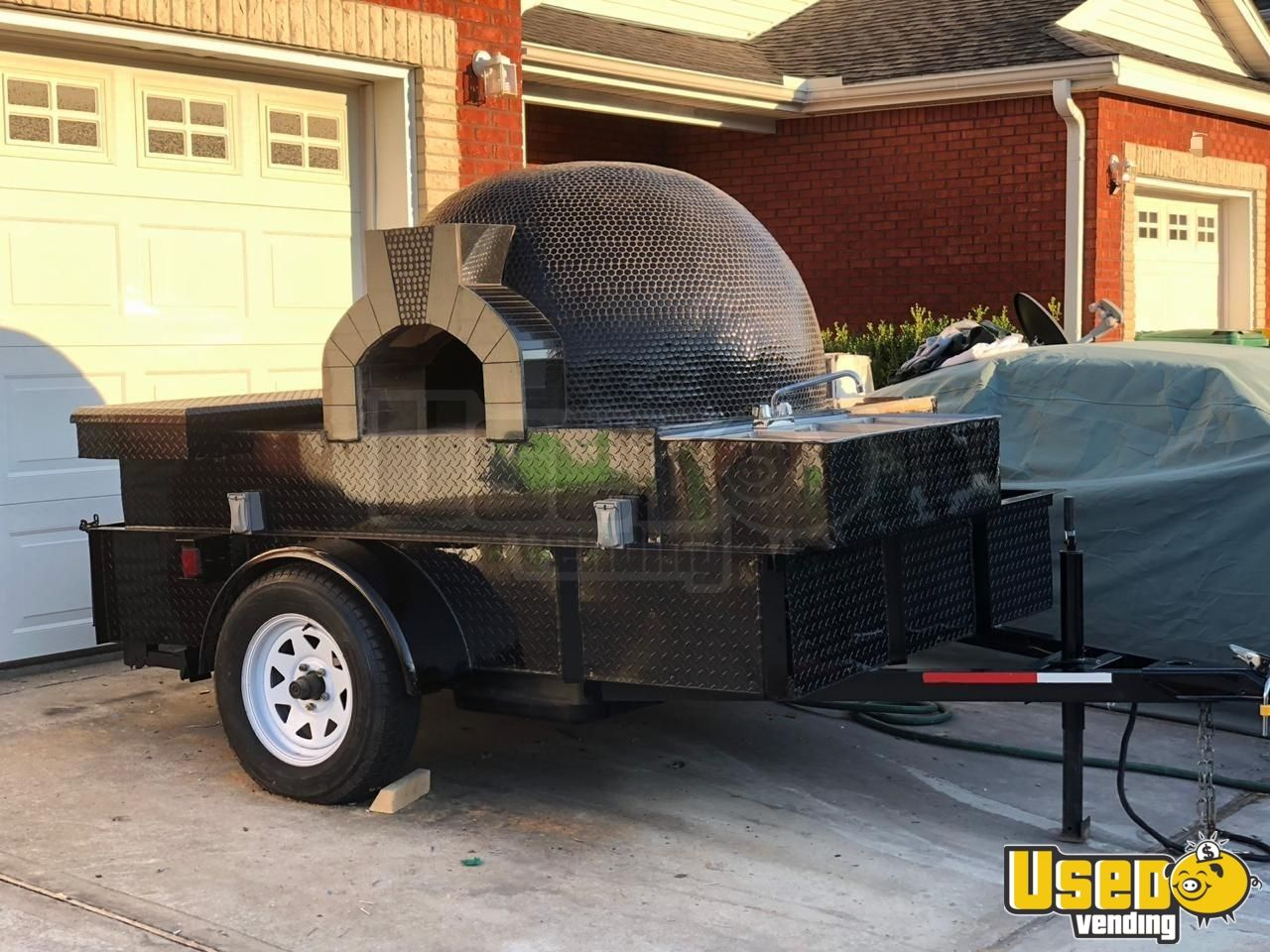 2018 Homemade Pizza Trailer Diamond Plated Aluminum Flooring Florida for Sale - 2