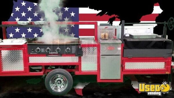2018 Open Bbq Smoker Food Concession Trailer Open Bbq Smoker Trailer Texas for Sale
