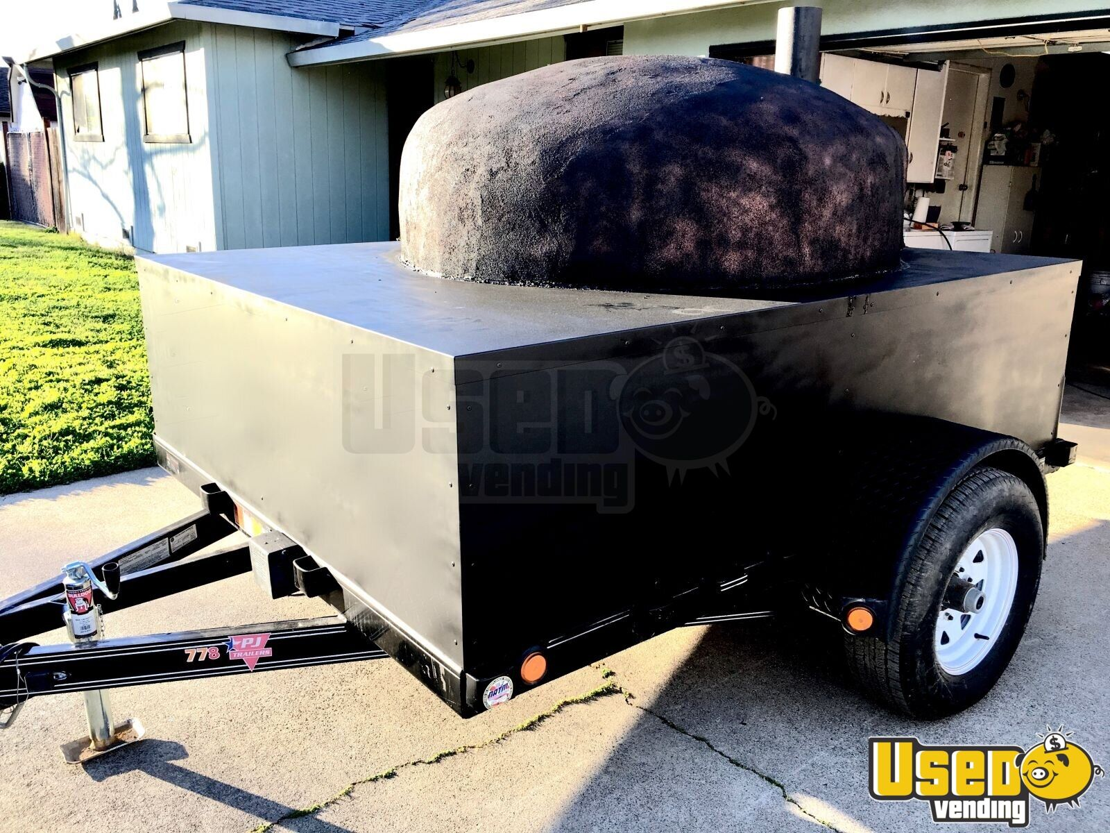 2018 Wood Fired Brick Pizza Oven Trailer For Sale In California