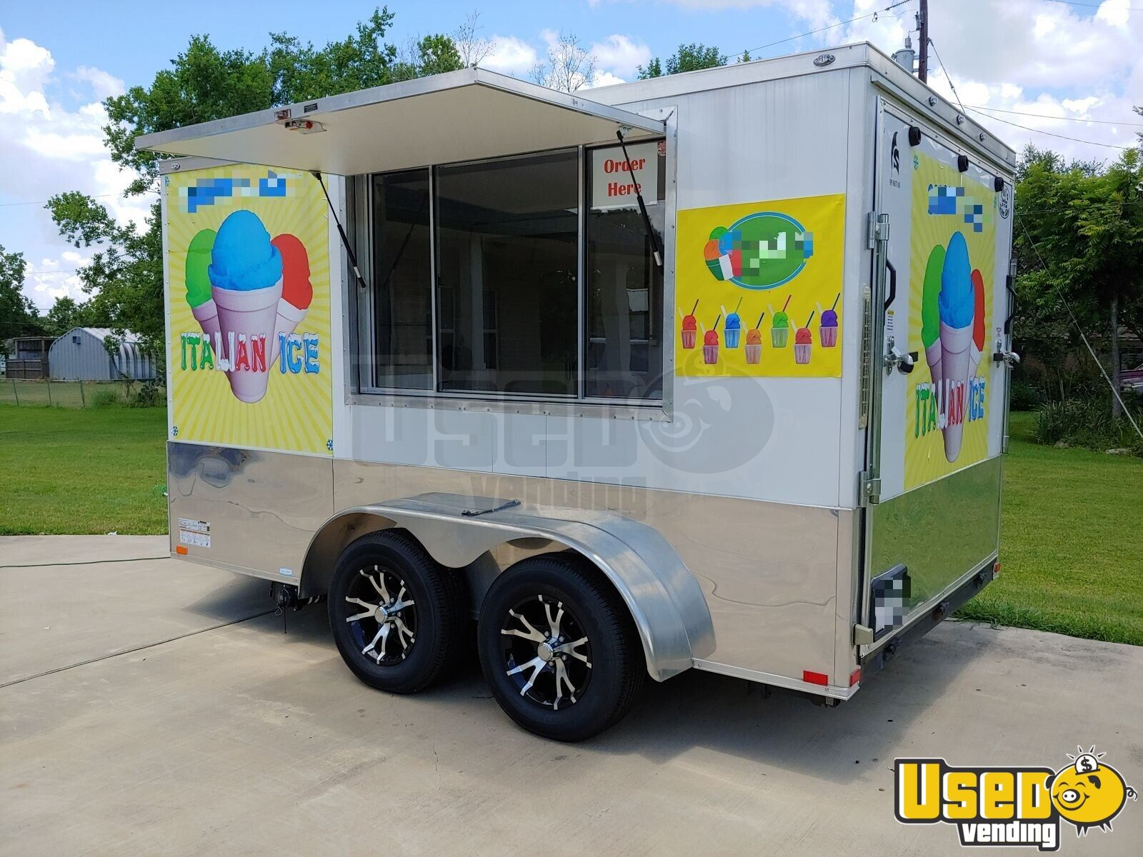 2018 Spartan 7x12 Ice Cream Truck Concession Window Texas for Sale - 3