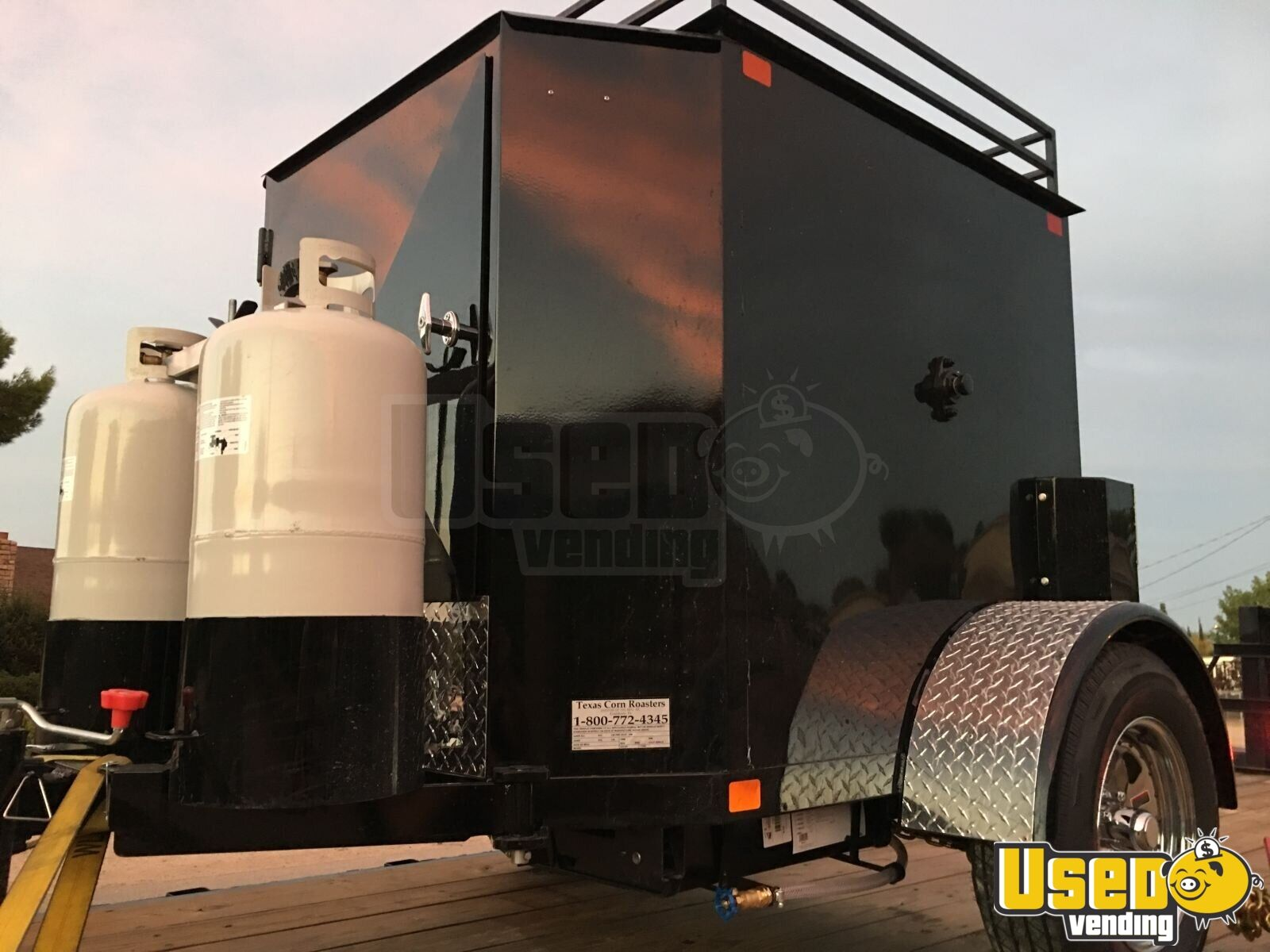 2018 Texas Corn Roaster Corn Roasting Trailer Fire Extinguisher California for Sale - 5