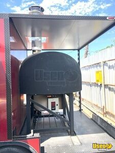 2018 Wood-fired Pizza Concession Trailer Pizza Trailer Stainless Steel Wall Covers Texas for Sale