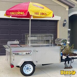 2019 Hot Dog Concession Cart Food Cart Hot Dog Warmer Florida for Sale