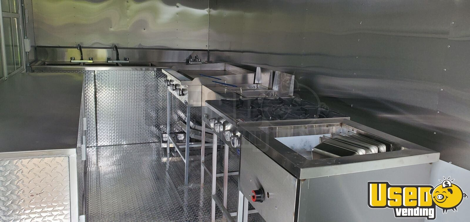 2019 Kitchen Food Trailer Stovetop New Mexico for Sale - 6