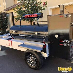 2019 Open Barbecue Smoker Tailgating Trailer Open Bbq Smoker Trailer Work Table California for Sale