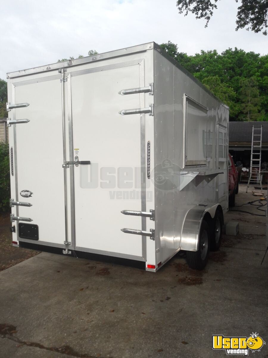 2019 Quality Cargo Concession Trailer Stainless Steel Wall Covers Florida for Sale - 3