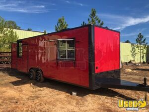 "8.6"" x 24' Custom New Built to Order Food Concession Trailer w/ 8' Porch for Sale in Georgia!"