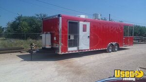 Custom-Built 2020 - 8.5' x 32' New Mobile Kitchen Food Concession Trailer with Porch for Sale in Texas!!