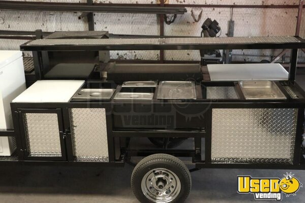 2020 The Texan Open Bbq Smoker Food Concession Trailer Open Bbq Smoker Trailer Umbrella Texas for Sale