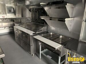 2020 Tubular Body Kitchen Concession Trailer Kitchen Food Trailer Exterior Customer Counter Michigan for Sale