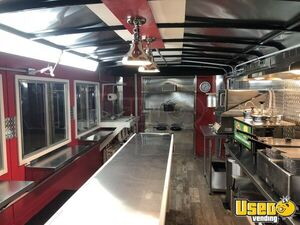 2021 Deluxe Kitchen Concession Trailer Kitchen Food Trailer Stainless Steel Wall Covers Ohio for Sale